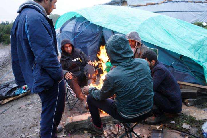 Calais Camp, photo credits to Nicolas Nematala