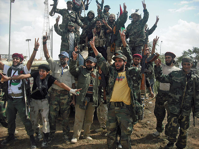 NTC Fighters during the fight against Qaddafi. Photo by Magharebia / CC BY 2.0